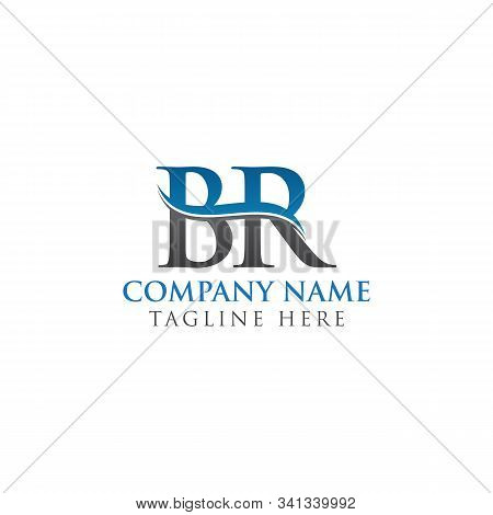 Br Letter Logo With Water Wave Business Typography Vector Template. Creative Abstract Letter Br Logo