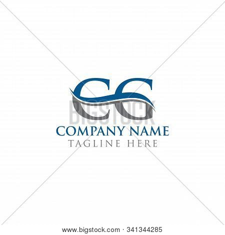 Initial Cg Letter Logo With Water Wave Business Typography Vector Template. Creative Abstract Letter