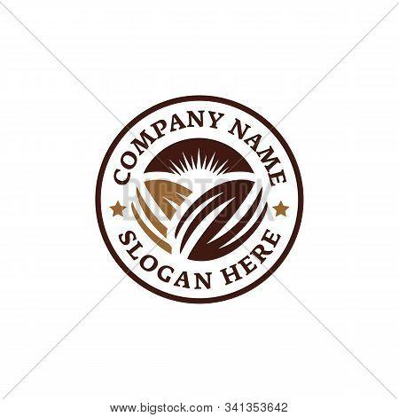 Emblem Chocolate Coffee Bean Logo. Branding For Cafes, Cofeeshop, Restaurants, Beverages, Eatery, Pr