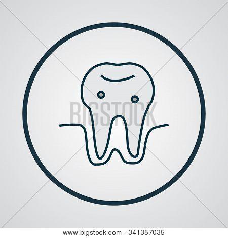 Parodontosis Icon Colored Line Symbol. Premium Quality Isolated Gingivitis Element In Trendy Style.