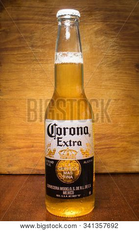 Photo Of A Bottle Of Corona Extra Beer. Corona, Produced By Grupo Modelo With Anheuser Busch Inbev,