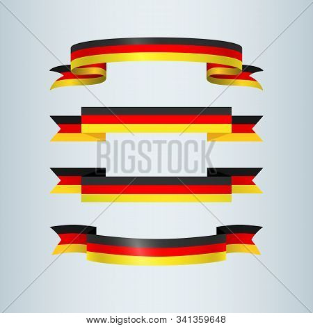 Ribbons Banner Ribbon Icon German Flag Sign Traditional Symbols Collection For German Patriotic Them