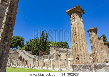 Pompeii, An Ancient Roman City Near Modern Naple, Italy, That Was Buried Under Volcanic Ash And Pumi