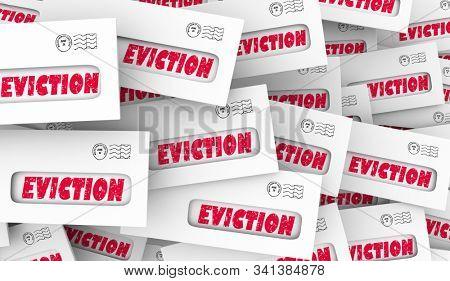 Eviction Notice Letter Envelope Final Warning Get Out 3d Animation