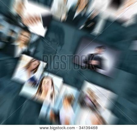 Geschäft Collage aus vielen Business-Bilder
