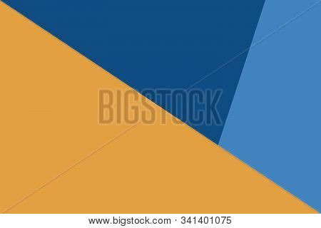 Three Color Background Of Trendy Colors 2020. Orange And Blue Colors.