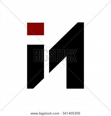In, Ni Initials Geometric Letter Company Logo And Icon