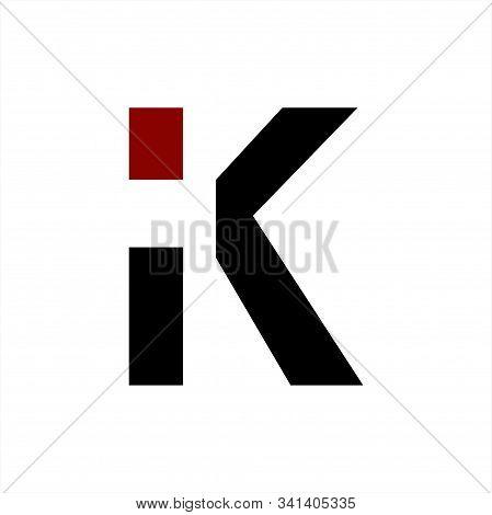 Ik, Ki, Ic Initials Geometric Letter Company Logo And Icon