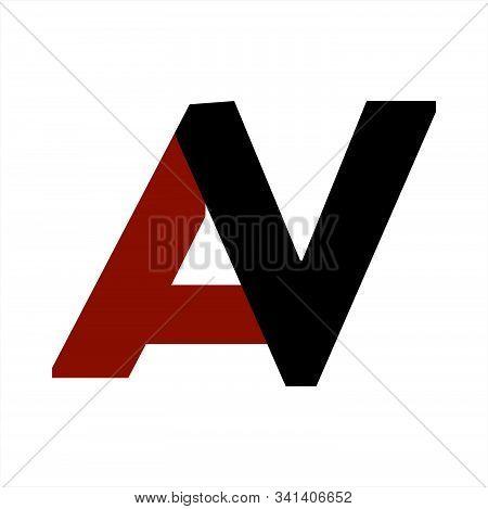 Av, Va Initials Letter Company Logo And Icon