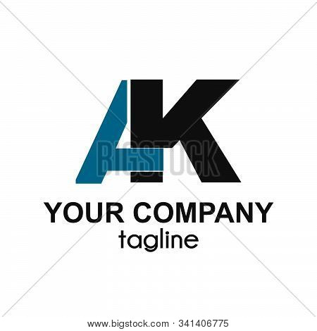 Ak Initials Letter Company Logo And Icon