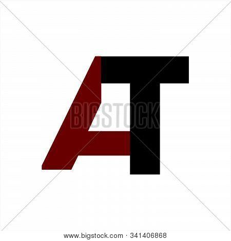 At Initials Company Logo And Vector Icon