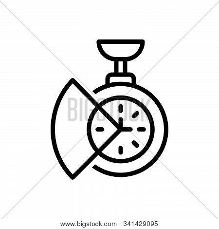 Black Line Icon For Time-saving Time Saving Reminder Clock Parsimony Saver