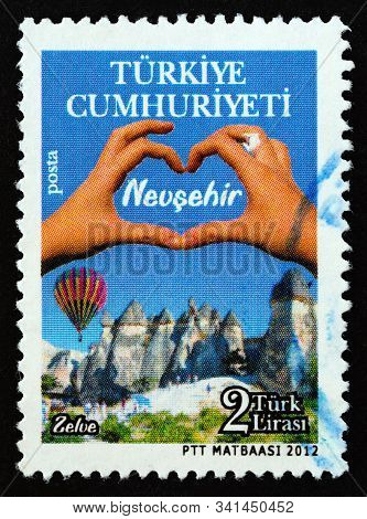 Turkey - Circa 2012: A Stamp Printed In Turkey From The