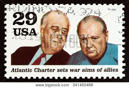 Usa - Circa 1991: A Stamp Printed In Usa From The