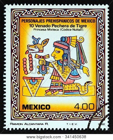 Mexico - Circa 1982: A Stamp Printed In Mexico From The