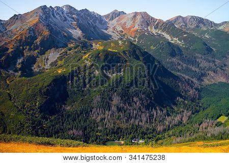 Western Tatras, Rohacska Valley: The Peaks Tri Kopy, Hruba Kopa, Pachola, Spalena And Banikov As Par