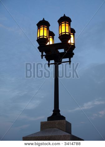 Four Lamp Streetlight