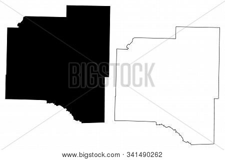 Grant County, Arkansas (u.s. County, United States Of America,usa, U.s., Us) Map Vector Illustration