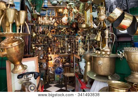 Tetouan, Morocco - May 24, 2017: Sale Of The Different Ancient Goods On The Old Market In Tetouan In