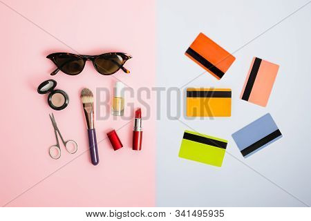 Gender Stereotypes: Division Of Men And Women Activities. Credit Cards Opposed To Beauty Products An