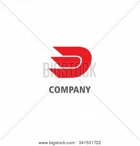 Letter D Alphabetic Company Logo Design Template, Lettermark Logo Concept, Abstract Sharp Font, Abja