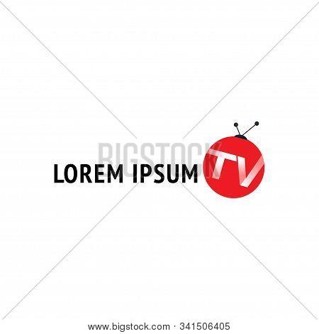 Online Tv Channel Logo Design Template, Balloon Logo Concept, Like Ladybugs, Live Streaming, Enterta