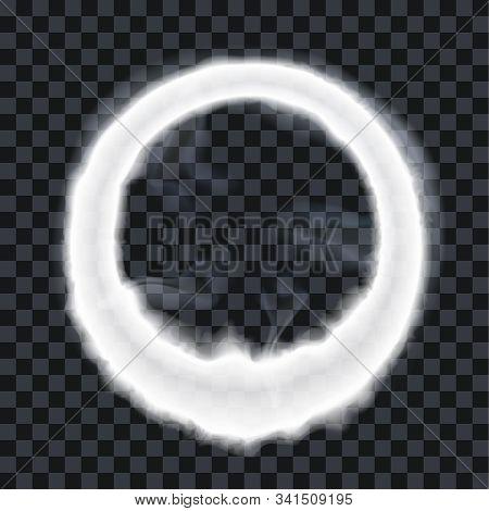 Vape Steam Ring Smoke Exhale Puff Vector Illustration