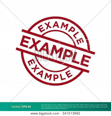 Example Stamp Vector Template Illustration Design. Vector Eps 10.