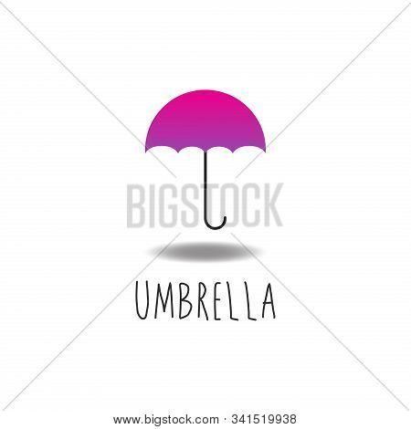 Umbrella Logo Design Template, Magenta, Pink, Violet, Purple, Girly, Fashion, Accessory. Rain Protec