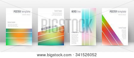 Flyer Layout. Geometric Dazzling Template For Brochure, Annual Report, Magazine, Poster, Corporate P