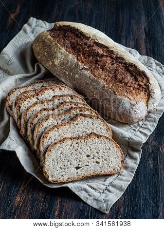 Whole Wheat Country Bread With Sunflower Seeds