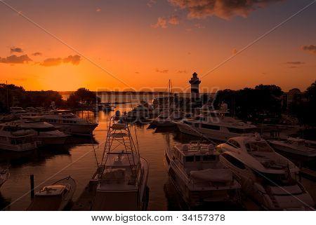 Sun Setting In Hilton Head, South Carolina