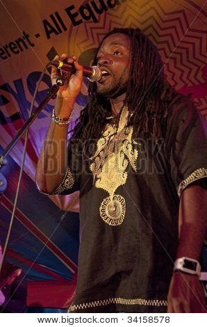 Kuron King From The Afro-funk Band Bronzehead Performing Live In The World Big Top