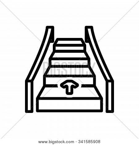 Black Line Icon For Automatic Ladder Technology Electronic Automatical