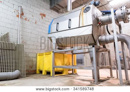 This Waste Water Separator Is Located In A Technical Room At The Water Purification Station
