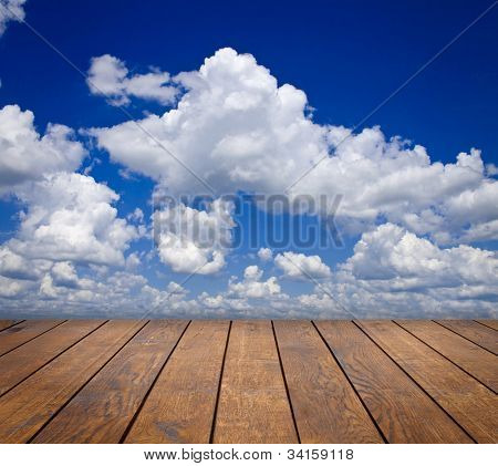 wood textured backgrounds in a room interior on the sky backgrounds