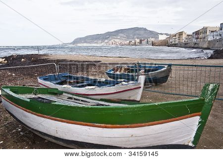 Boats In The Marina Of Trapani