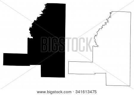 Jackson County, Arkansas (u.s. County, United States Of America,usa, U.s., Us) Map Vector Illustrati