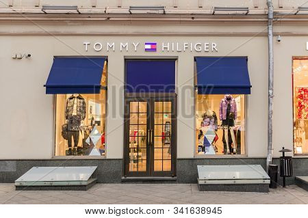 Moscow, Russia - December 18, 2019: A Tommy Hilfiger Store On Kuznetsky Most.