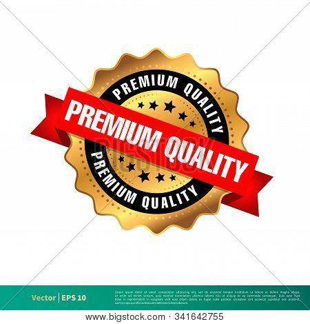 Premium Quality Gold Seal Stamp Vector Template Illustration Design. Vector Eps 10.