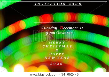 Abstract Background Of New Year Invitation Card, New Year Party Invitation Card, Banner, Poster, Fly
