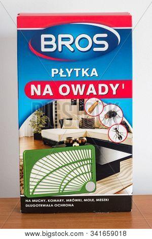 Pruszcz Gdanski, Poland - December 6, 2019: Bros Insect Strip.