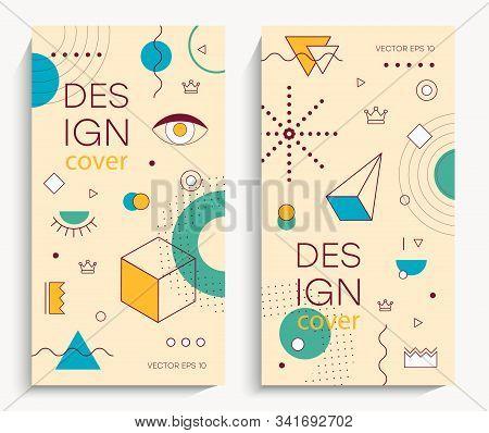 Memphis Design Elements. Retro Funky Graphic, 90s Trends Designs And Vintage Geometric Print Illustr