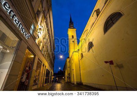 Brno, Czechia - November 5, 2019: Kostel Svate Mari Magdaleny, Also Called Saint Mary Magdalene Chur