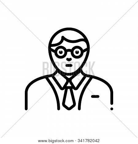 Black Line Icon For Expert Specialist Connoisseur Advisor