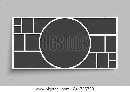 Vector Empty Collage Circle Fifteen Image Photo