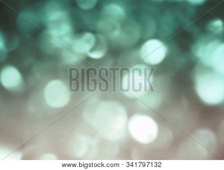 Cyan Green Abstract Defocused Boke Bokeh Festive Design Background