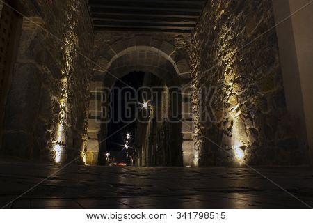 The Gate Of The Loyalists, Avila Walls, Avila, Spain