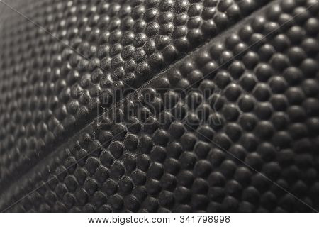 Surface Pattern Of A American Football In Black An White.