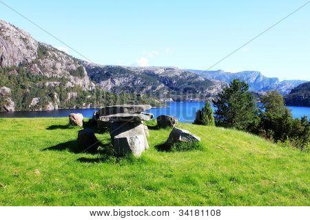 Green meadow in Norway